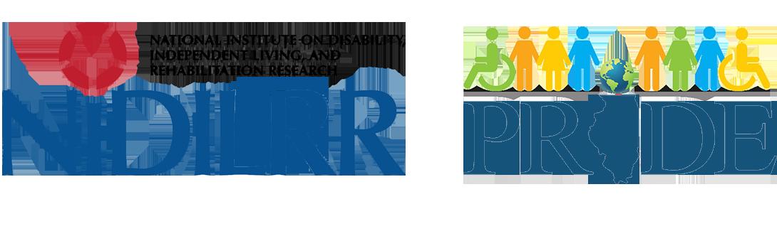 NIDILRR and PRIDE logos