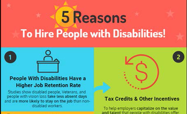 5 reasons to hire people with disabilities